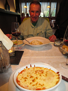 Ah, but this was the best Italian food we had on the entire trip, at Il Giardino's, in Bludenz.  Roger is a very happy camper.