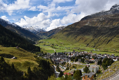 Two thousand feet below the pass is the village of Andermatt, a seemingly classic Swiss village.