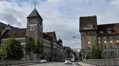 The next morning, driving thru Feldkirch on the Austrian border with Liechtenstein.