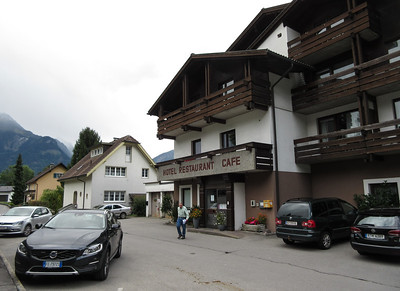 We arrived at our hotel for the evening near Bludenz, Austria, about 155 miles and five hours from where we left.  Like I mentioned, good that we planned on two days to get to Lauterbrunnen.
