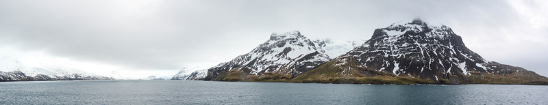 Meantime, always a good opportunity, if the ship is steady, to do a panorama of the entrance to King Haakon Bay.