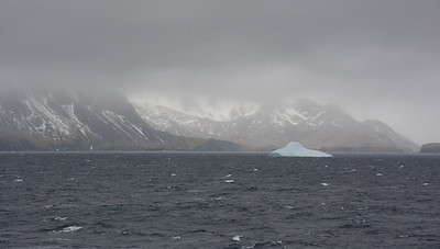 Fog, whitecaps and icebergs.  Yeah, that's what we love.  NOT!