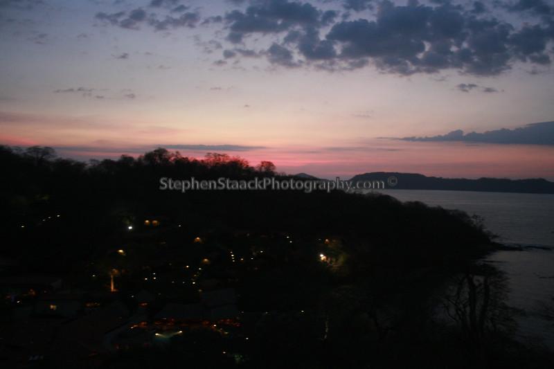 Golfo de Papagayo at sunset.
