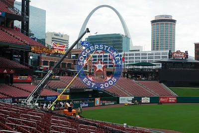 Busch Stadium Preps for World Cup Qualifier