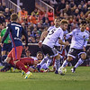 Valencia CF vs. Atletico de Madrid in a La Liga game at Mestalla Stadium, in Valencia, Spain.  The final score of the game was Valencia - 1 and Atletico de Madrid - 3
