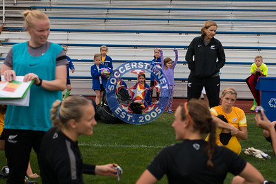 New Zealand Ferns training in advance of match vs USWNT on April 4 at Busch Stadium
