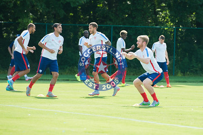 Tim Ream and USMNT Training on Off Day in Kansas City