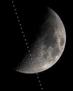 ISS Lunar Transit with Lunar X & V