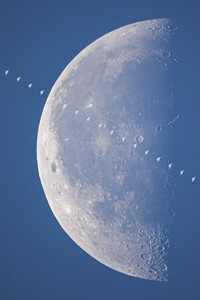 Space Station Daylight Lunar Transit