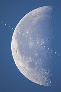 Space Station Daylight Lunar Transit