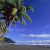 Scenic of Black Sand Beach on Osa Penninsula of Costa Rica