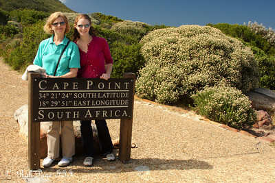 Maggie and Emily enjoying Cape Point - Cape Town, South Africa ... March 12, 2010 ... Photo by Rob Page III