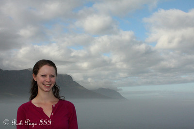 Emily enjoys the beautiful morning - Cape Town, South Africa ... March 12, 2010 ... Photo by Rob Page III