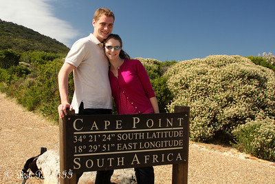 Rob and Emily at Cape Point - Cape Town, South Africa ... March 12, 2010 ... Photo by Maggie Conger