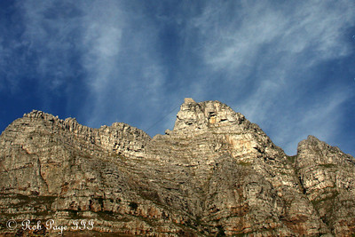 Looking back up at Table Mountain - Cape Town, South Africa ... March 11, 2010 ... Photo by Rob Page III