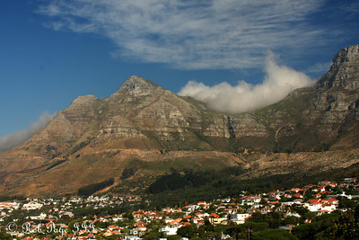Devil's Peak rises above Cape Town - Cape Town, South Africa ... March 11, 2010 ... Photo by Rob Page III