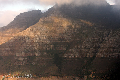 The clouds shroud the top of Devil's Peak from view - Cape Town, South Africa ... March 11, 2010 ... Photo by Rob Page III