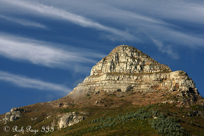 The top of Lion's Head.  It rises 2,195 feet above sea level - Cape Town, South Africa ... March 11, 2010 ... Photo by Rob Page III