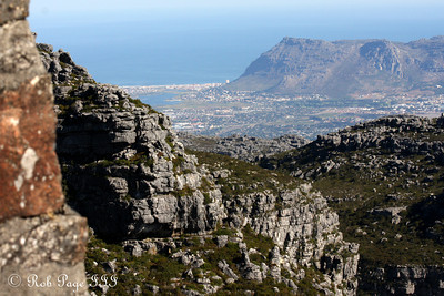 The view towards the south from Table Mountain - Cape Town, South Africa ... March 8, 2010 ... Photo by Rob Page III