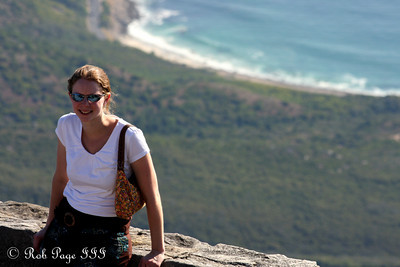 Emily enjoys Table Mountain - Cape Town, South Africa ... March 8, 2010 ... Photo by Rob Page III