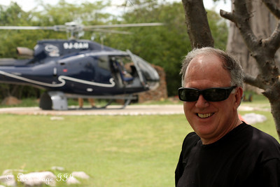 It's about time to go up in the chopper - Livingstone, Zambia ... March 18, 2010 ... Photo by Rob Page III