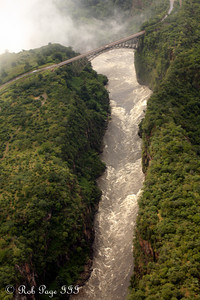 The Victoria Falls Bridge connects Zambia to Zimbabwe - Livingstone, Zambia ... March 18, 2010 ... Photo by Rob Page III