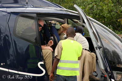 Steve and Judy in the helicopter - Livingstone, Zambia ... March 18, 2010 ... Photo by Rob Page III