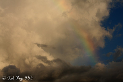 A rainbow in the sky - Sabi Sabi, South Africa ... March 13, 2010 ... Photo by Rob Page III
