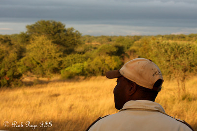 Mike Ndlovu, our tracker, with his wonderful office view - Sabi Sabi, South Africa ... March 15, 2010 ... Photo by Rob Page III