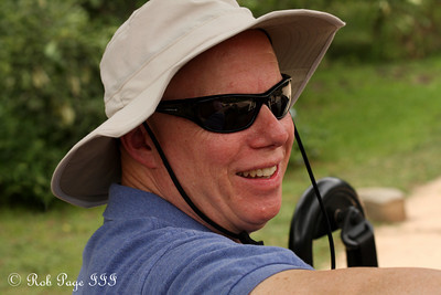 Bob enjoying the safari - Sabi Sabi, South Africa ... March 15, 2010 ... Photo by Rob Page III