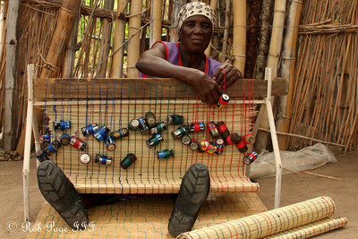 Weaving rugs - Sabi Sabi, South Africa ... March 15, 2010 ... Photo by Emily Page