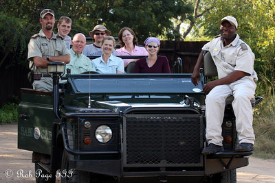 The whole group in the Land-Rover - Sabi Sabi, South Africa ... March 15, 2010