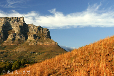 Table Mountain on a beautiful morning - Cape Town, South Africa ... March 11, 2010 ... Photo by Rob Page III