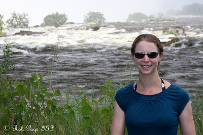 Emily above VictoriaFalls - Livingstone, Zambia ... March 17, 2010 ... Photo by Rob Page III