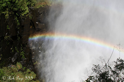 A rainbow forms at the Eastern Cataract of Victoria Falls - Livingstone, Zambia ... March 17, 2010 ... Photo by Rob Page III