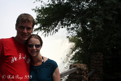 Rob and Emily at Victoria Falls - Livingstone, Zambia ... March 17, 2010 ... Photo by Bob Conger