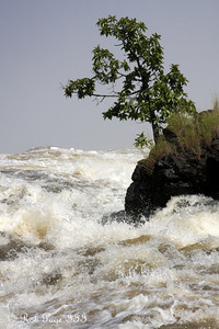 The Zambezi River churns above the edge of Victoria Falls - Livingstone, Zambia ... March 17, 2010 ... Photo by Rob Page III