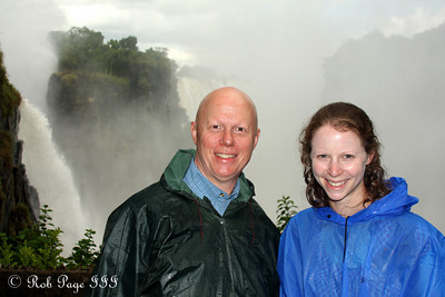 Emily and Bob at Victoria Falls - Victoria Falls, Zimbabwe ... March 18, 2010 ... Photo by Rob Page III