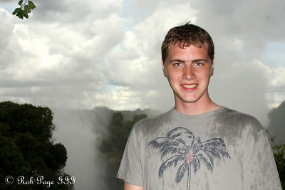 Rob at Victoria Falls - Victoria Falls, Zimbabwe ... March 18, 2010 ... Photo by Emily Page
