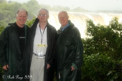 Steve, Jim, and Bob at Victoria Falls - Victoria Falls, Zimbabwe ... March 18, 2010 ... Photo by Rob Page III