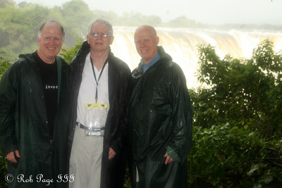 Steve, Jim, and Bob at Victoria Falls - Victoria Falls, Zimbabwe ... March 18, 2010 ... Photo by Rob Page III