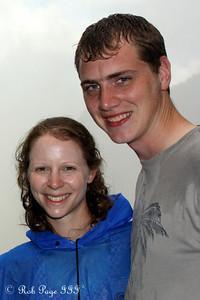Rob and Emily at Victoria Falls - Victoria Falls, Zimbabwe ... March 18, 2010 ... Photo by Bob Conger
