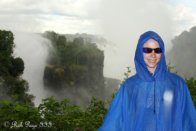 Emily at Victoria Falls - Victoria Falls, Zimbabwe ... March 18, 2010 ... Photo by Rob Page III