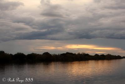 Sunset on the Zambezi Wiver - Livingstone, Zambia ... March 18, 2010 ... Photo by Rob Page III