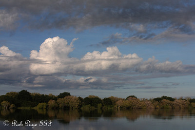Sunrise over the Zambezi River - Livingstone, Zambia ... March 16, 2010 ... Photo by Rob Page III