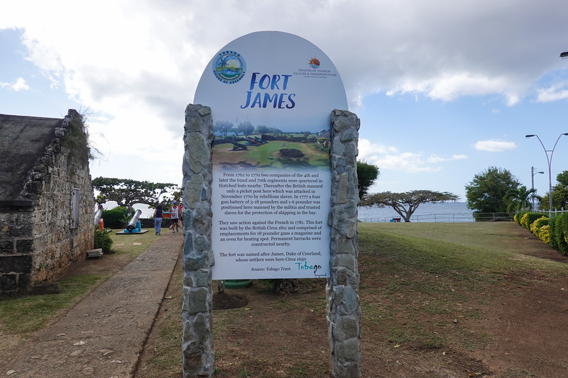 Fort James, circa 1777, on Tobago.