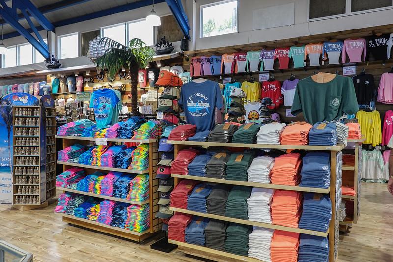 The mountain top souvenir store on St. Thomas.