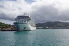 Viking Sea docked in Castries, Saint Lucia.