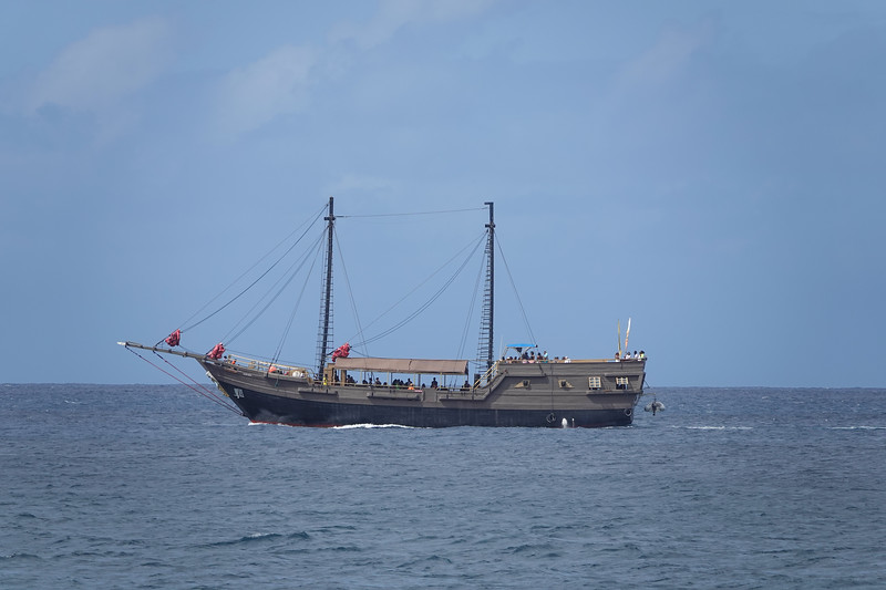 Sailing expedition on an old schooner out of Castries, Saint Lucia.