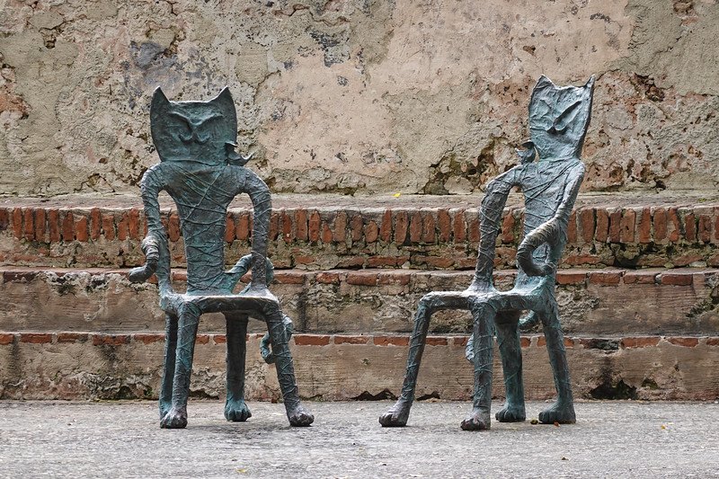 Chair Art at a historic small plaza in old San Juan, PR.